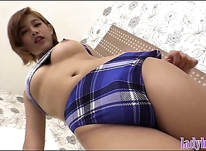 Ladyboy encircling big tits added to a hot ass blowjob added to anal fuck