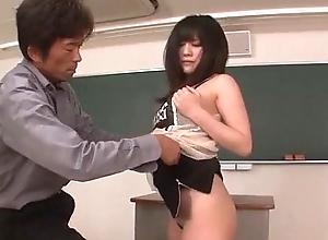 Kyoka Mizusawa fucke hard by her teacher in slutty manners