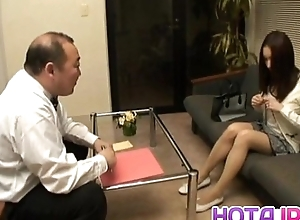 Nozomi Mashiro Asian piece of baggage gets pussy spread and masturbated in close yon