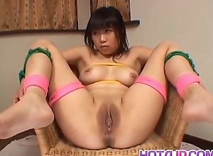 Rin Satomi Asian doll is required and teased with dildos in gangbang scenes