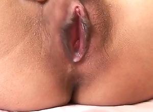 Miina Minamoto gets a huge cock to smash her hairy twat