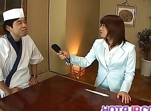 Mitsu Anno gets weasel words deepthroat and cum in mouth in food fetish