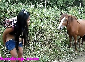 Heather Abysm 4 wheeling on scary immutable quadrangle and Peeing next to horses nearby the jungle youtube version