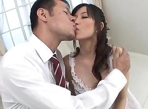 Manami Komukai blows and fucks in fantasizer scenes