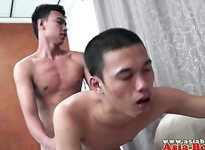 Asian twink bareback having it away tight ass