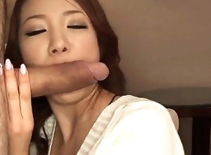Sweet, Kanako Tsuchiyo, blows cock similarly to an punter