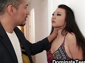 Asian Teen Gets Verge on Punishment!