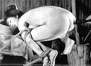 Slaves at hand rope japanese art bizarre servitude extreme bdsm painful cruel punishment asian charm