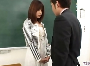 Hot Teacher Fingered Sucking The Principal Up The Classroom