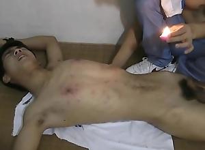 Slim Asian Slave Boy Hot Wax