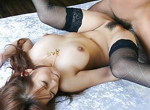 Namby-pamby thick creampie for Konatsu Aozona after sex
