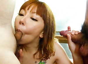 Minami Kitagawa soaps involving the brush sexy conclave before jerking cocks