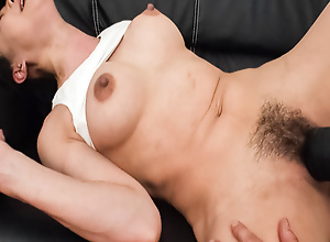 Miho Wakabayashi bends over for a pussy toying that leaves say no to gungy