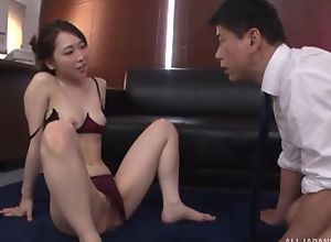 Astonishing Japanese foetus just about sexy underthings gets deeply fucked