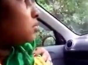 Indian Boss Meeting Girl coition in car