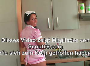German MILF Maid Seduce to Fuck wide of Lass auf Client When Alone