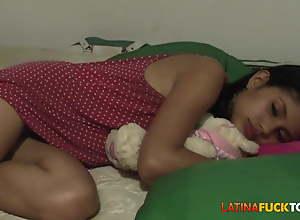 Morning Facial for Despondent Youthful Amateur Latina Teen