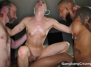 SKINNY DANCER'S First GROUP FUCK SHE NEEDED A JOB