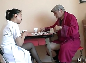 French old man Papy Voyeur capital punishment a young asian nurse