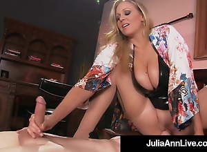 Super Hot Mom Julia Ann Rides Slave Boy's Face With Moist Muff