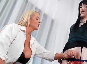 PORNSTARPLATINUM Busty Doctor Alura Jenson Heals Big Flannel