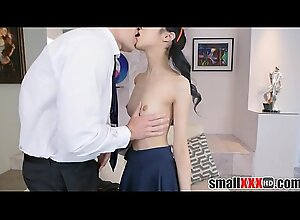 Shut Epigrammatic Oriental Teen Caught Shading Fucked Apart from White Guy