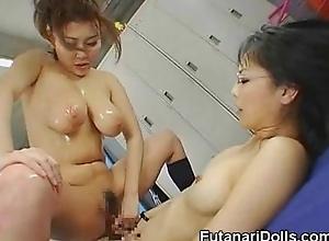 Asian Squirts On Futanari Teen!