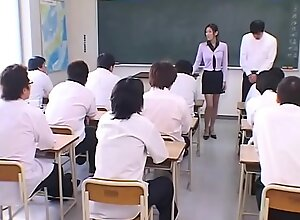 Japanese Teacher degraded added to Jism covered by the brush Students in Miscellany