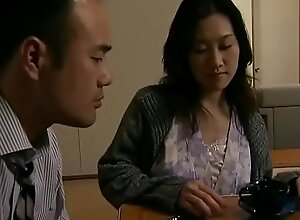 Japanese hot wife cheats  with neighbour when her economize is sleeping