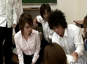 Saleable Japanese teacher gets fucked plus misused