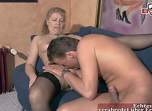 German mature housewife copulates with unpractised tits at swinger club