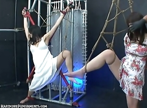 Precedent-setting Japanese BDSM Sex - Kaho with the addition of Ayumi