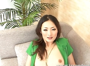 Risa Murakami sucks cock and takes it doggy style