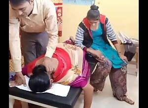 Aunty's back pain ass massage